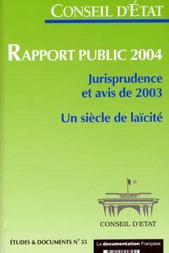 Rapport Public 2004 Jurisprudence Et Avis De 2003