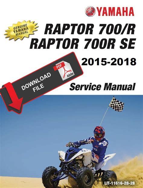 Raptor 700 Service Manual