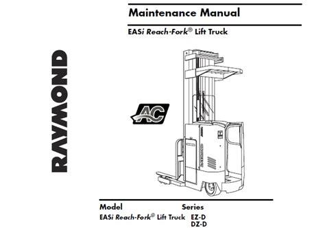 Raymond Reach Forklift Manual