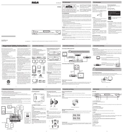 Rca Rt2906 User Guide