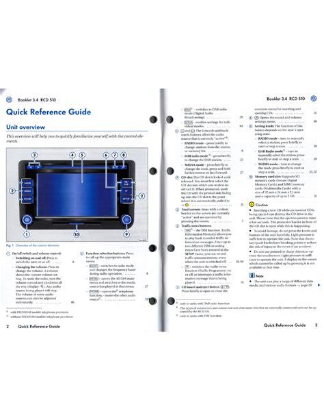 Rcd 510 User Guide