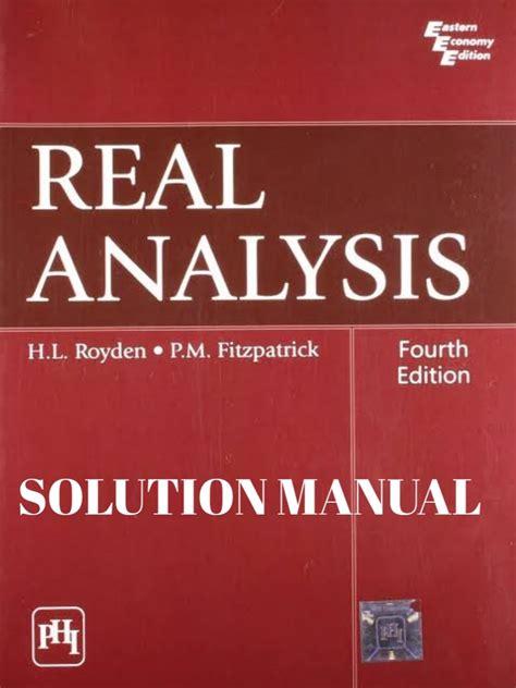 Real Analysis By Royden Solution Manual Nikaro
