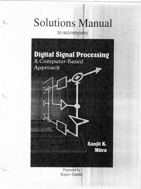 Reas Antoniou Digital Signal Processing Solutions Manual