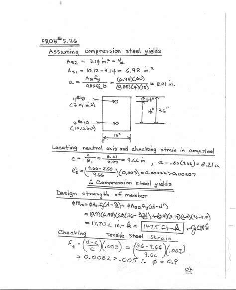 Reinforced Concrete Mechanics Design Solution Manual