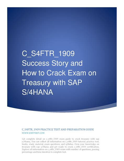 Related C-S4FTR-1909 Exams