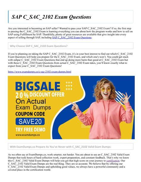 Reliable C_SAC_2102 Exam Blueprint