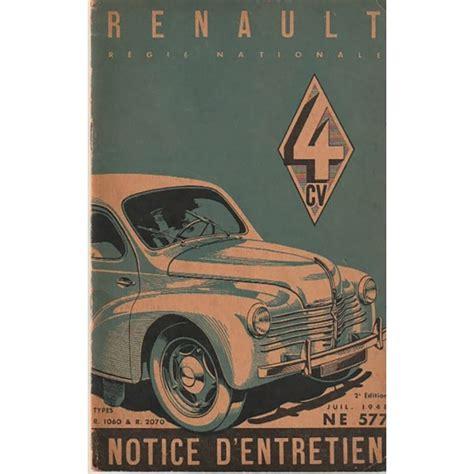 Renault 4 Cv Notice Dentretien