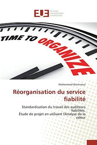 Reorganisation Du Service Fiabilite