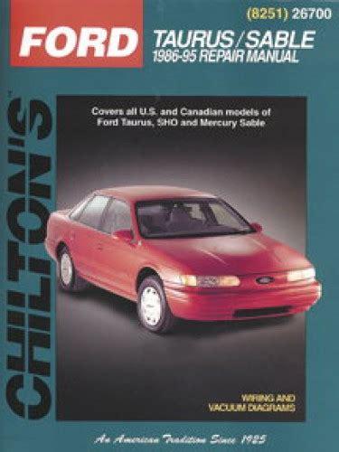 Repair Manual 1995 Ford Taurus