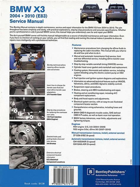Repair Manual For 0 Bmw X3 E83