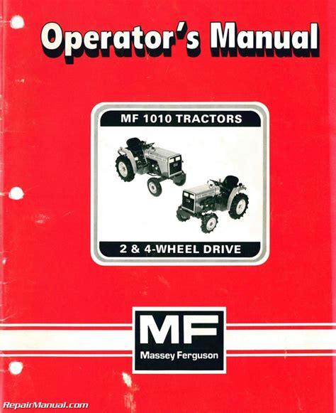 Repair Manual For 1010 Massey Ferguson
