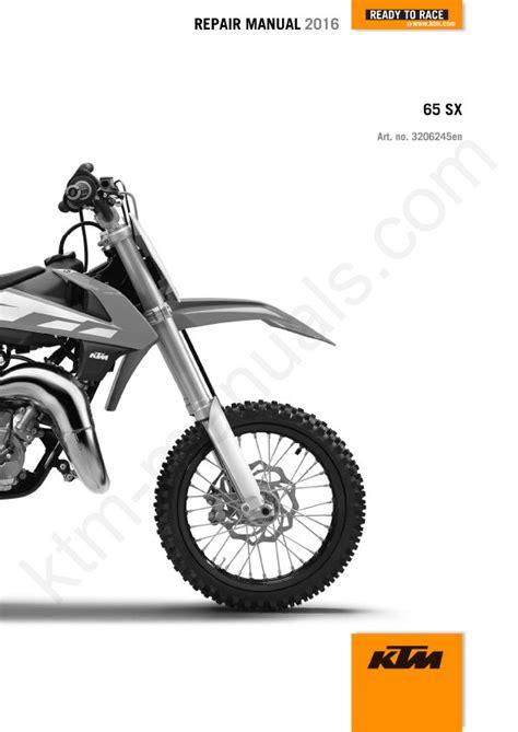 Repair Manual For 2016 Ktm65