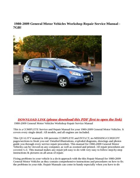 Repair Manual For 2018 Gmc Safari Van