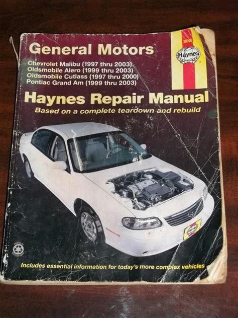 Repair Manual For A 99 Malibu