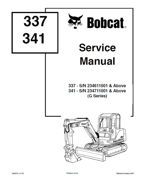 Repair Manual For Bobcat 341