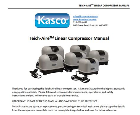 Repair Manual For Linear Compressor