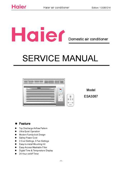 Repair Manual Haier Esa3083 Air Conditioner