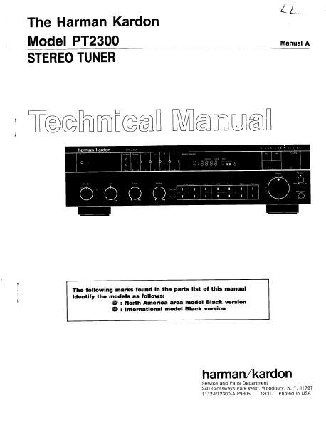 Repair Manual Harman Kardon Pt2300 Stereo Tuner