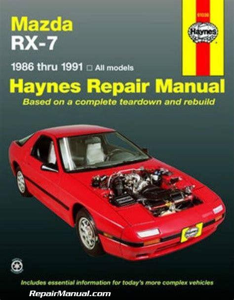 Repair Manual Mazda Rx7