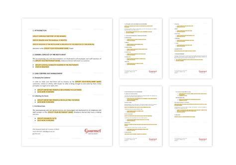 Restaurant Customer Service Manual Templates