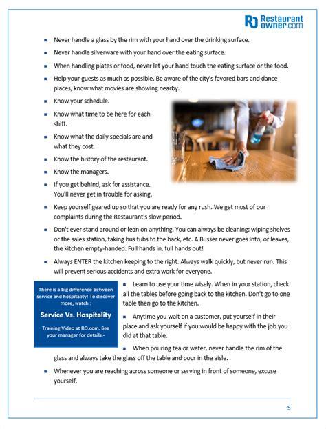 Restaurant Service Training Manual