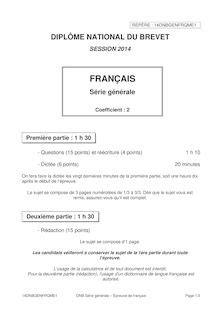Reussite Brevet 2014 Francais