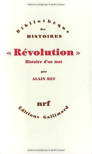 Revolution Histoire D Un Mot