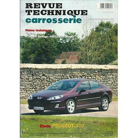 Revue Technique Carrosserie N 217 Peugeot 407