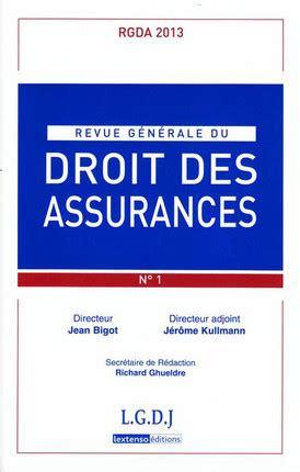 Rgda N 1 2009 Revue Generale Du Droit Des Assurances