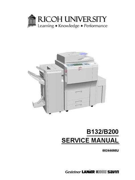 Ricoh Aficio 3260 Service Manual