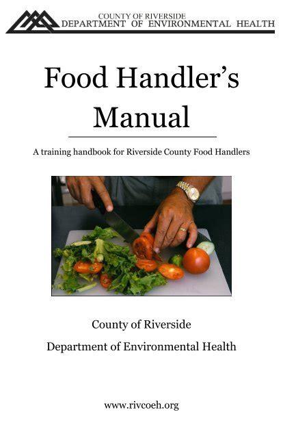 Riverside County Food Handlers Manual