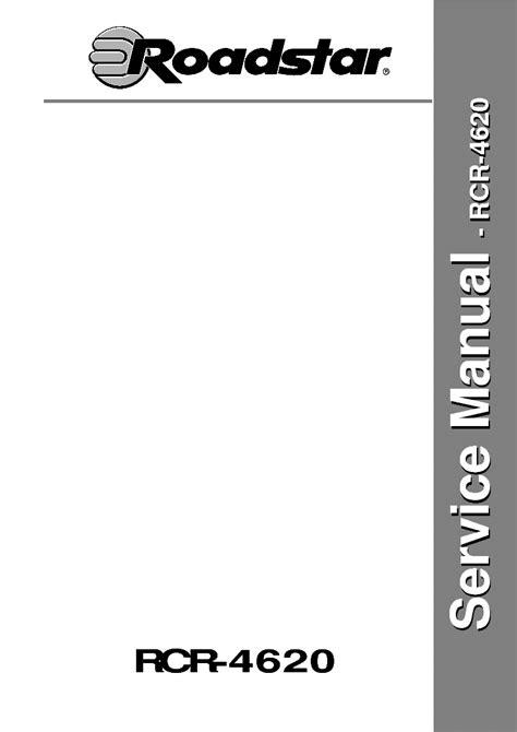 Roadstar Rcr 4620 Service Manual