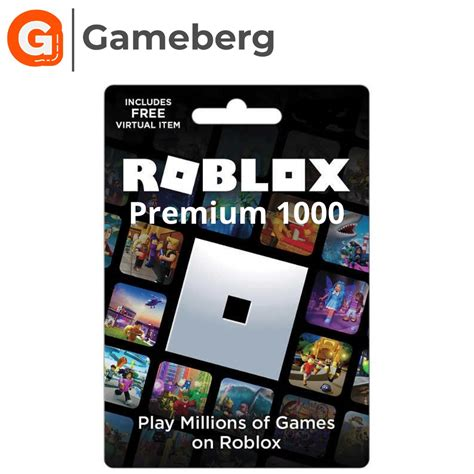 The Best Roblox 1000 Robux Gift Card