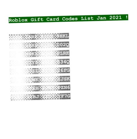 5 Things About Roblox Gift Card Codes 2021 Unused List