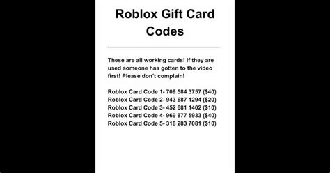 The 3 Things About Roblox Gift Card Codes Free Unused