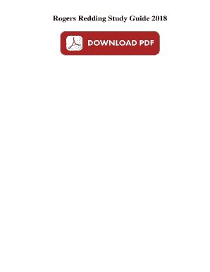 Rogers Redding Study Guide 2017