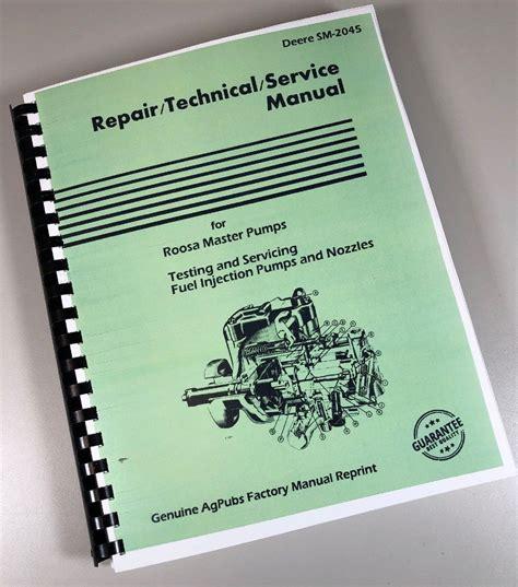 Roosa Master Fuel Injection Pump Repair Manual