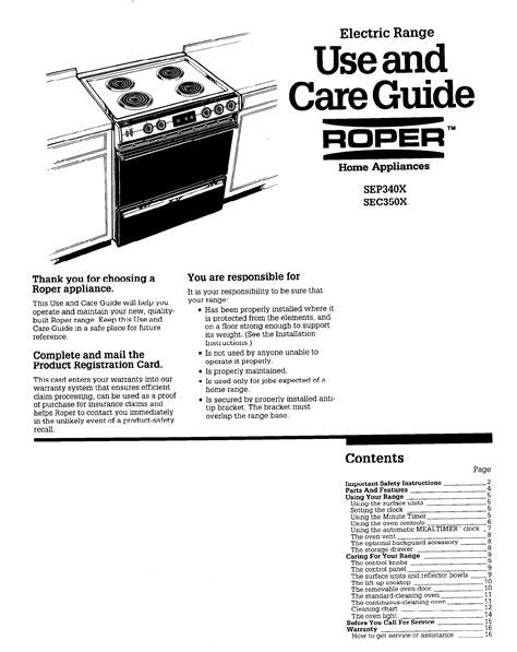 Roper Dryer Owners Manual