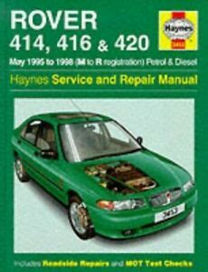 Rover 400 Series 95 98 Service And Repair Manual Haynes Service And Repair Manuals