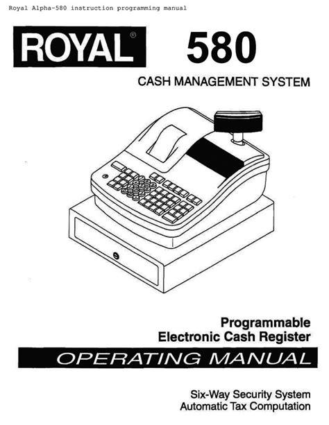 Royal Alpha 580 User Manual