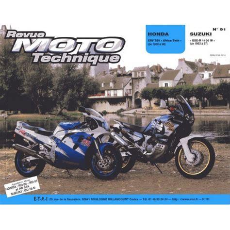 Rrmt0091 1 Revue Technique Moto Honda Xrv 750 Africa Twin De 1990 A 1994 Suzuki Gsx R 1100 W De 1993