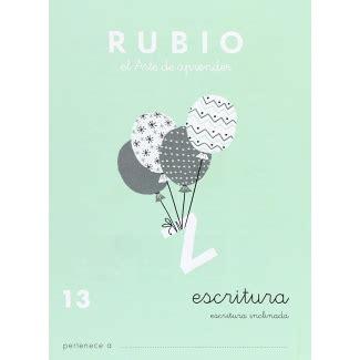 Rubio C 13 Cuaderno Caligrafia