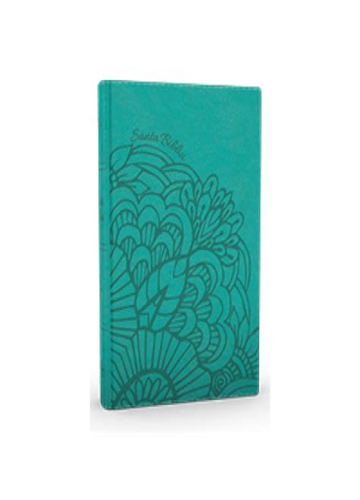 Rvr 1960 Biblia Letra Gigante Aqua Simil Piel