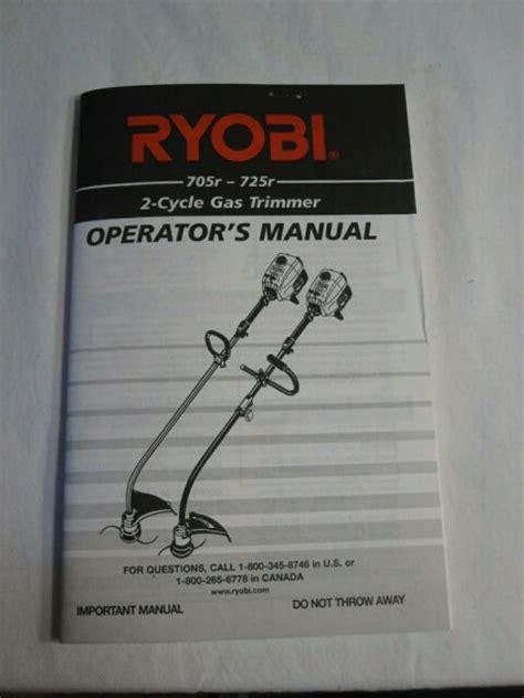 Ryobi 725r Repair Manual