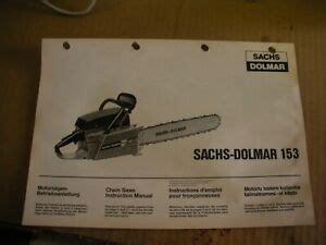 Sachs Dolmar 153 Manual