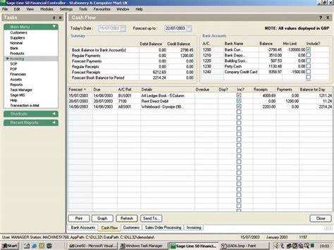 Sage Line 50 Cash Flow Manual
