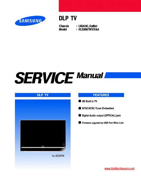 Samsung Dlp Tv Service Manual