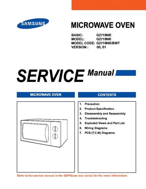 Samsung G2719nr Service Manual