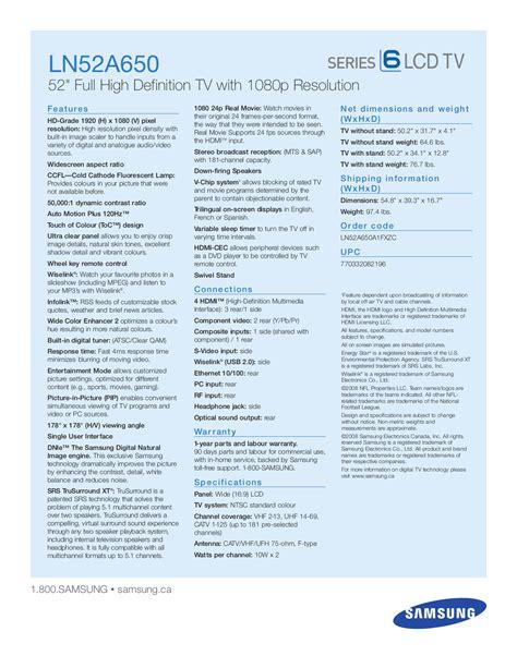Samsung Manual De Usuario Ln52a650