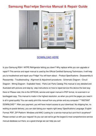 Samsung Rsa1wtpe Service Manual Repair Guide